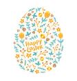 Easter floral egg vector image vector image