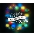 Light Bokeh Christmas Background With Typography vector image vector image