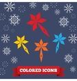 Santa staff icon Christmas symbol Colored vector image