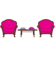 Two chairs and table vector image