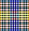 Colorful checkered seamless background Gingham vector image