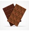 Dark and Milk Chocolate Bar vector image