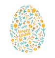 Easter floral egg vector image