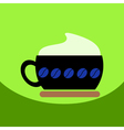 flat icon design collection cappuccino coffee vector image