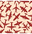 Flying red airplanes seamless pattern vector image