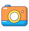 photo camera icon cartoon style vector image