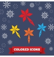 Santa staff icon Christmas symbol Colored vector image