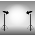 Standing strobe tripods vector image
