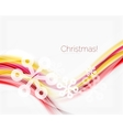 Wave with snow background vector image vector image