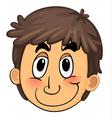 a boy face vector image vector image