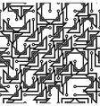 Monochrome seamless abstract pattern vector image vector image