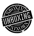 unboxing rubber stamp vector image