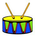 toy drum icon icon cartoon vector image vector image