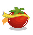 vegetables with tape measure vector image