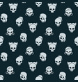 girl skull seamless pattern vector image