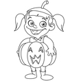 outlined pumpkin kid vector image