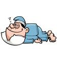 Man sleeping vector image vector image