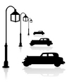 car and street light vector image