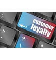 button keypad key with customer loyalty word vector image