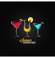 Cocktail summer party design menu background vector image