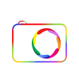 Colorful digital camera vector image