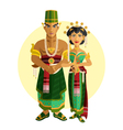 Indonesian Central Java Wedding Ceremony vector image
