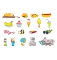 set of food and kid things vector image