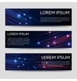 Space horizontal banners template vector image