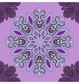 Violet seamless pattern with flowery vector image