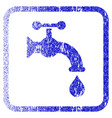 water tap framed textured icon vector image