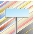 Road banner over speedy road vector image vector image