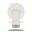 creative idea in the maze vector image