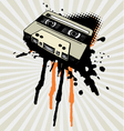 vintage tape splash vector image