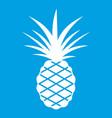 pineapple icon white vector image