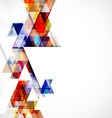 Modern colorful geometric abstract template vector image