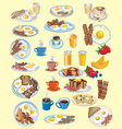 BREAKFAST AND FOOD ICONS SET vector image