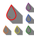 drop of water sign set of red orange yellow vector image