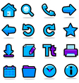 Internet browsing icons set vector image