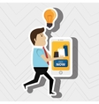 man credit card idea vector image