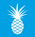 pineapple icon white vector image