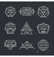 set of geometric line hipster logos icons vector image