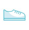 shadow shoe cartoon vector image