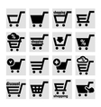 shopping basket icons vector image