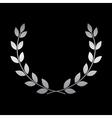 Silver laurel wreath icon 2 vector image