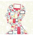 Social media gadgets vector image