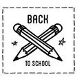Back to school design typographic quotes vector image