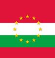 hungary national flag with a star circle of eu vector image