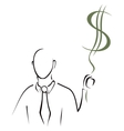Holding cash vector image