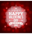 valentines day invitation design background vector image vector image