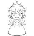Princess Coloring Page 5 vector image vector image